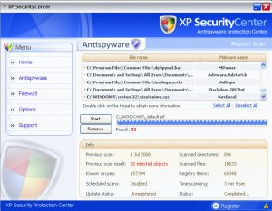 XP Security Center entfernen